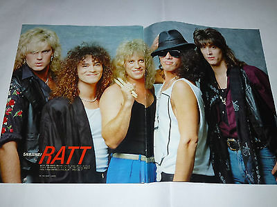 RATT BON JOVI EUROPE Clipping Japan Magazine !! STING THEN JERICO WA WA NEE