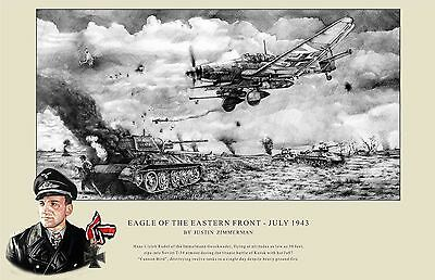 Eagle Of The Eastern Front Fine Art Print - A3 Size - ww2 - Hans Rudel