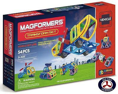 Magformers Vehicle Transform 54 Pce Set 63089 Brand New
