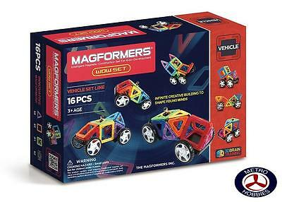 Magformers Vehicle WOW 16 Pce Set 707004 Brand New