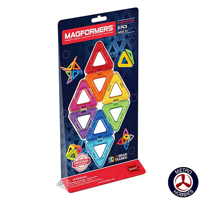 Magformers Triangles 8pce Set 701002 Brand New