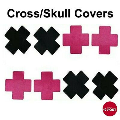 Breast Tits Boob Comfortable Nipple Cover Cross/ Skull Pasties Bra Pad Sticker