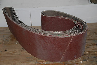 Naylor's Abrasives SANDING BELTS x 5 industrial P60 aluminium oxide 2000 x 150