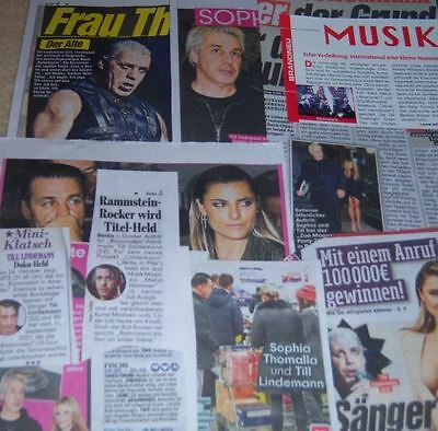 Rammstein 17 pc German Clippings Collection