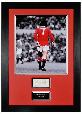George Best Official Signed & Certified Manchester United Autograph & Coa