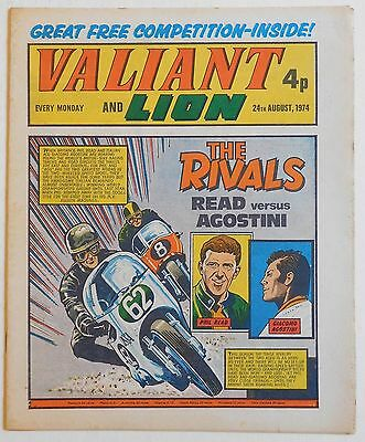 VALIANT and LION Comic - 24th August 1974