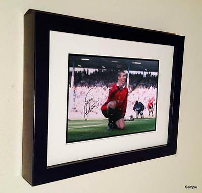 7x5 Signed Eric Cantona Manchester United Autographed Photo Picture Frame 2