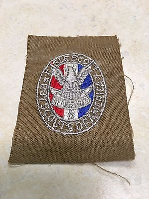 WW2 Era Eagle Scout Rank Patch on Sand Twill Tan