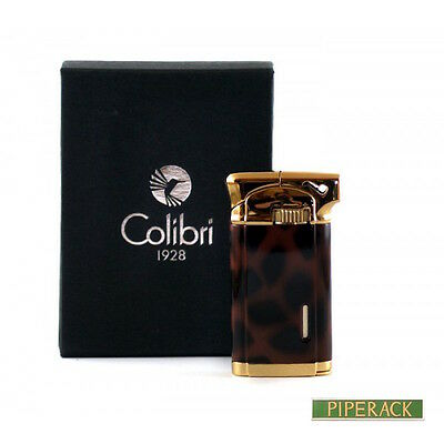Colibri Connaught Fake Tortoise Lacquer Soft Flame Pipe Lighter Luxury Gift Box