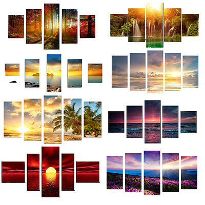 5PCS Modern Art Oil Paintings Canvas Print Unframed Pictures Home Wall Decor