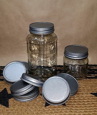 Lot of 12 Antique Pewter Lids - Crafts, Candles, Fit Small Mouth Mason Jars, New