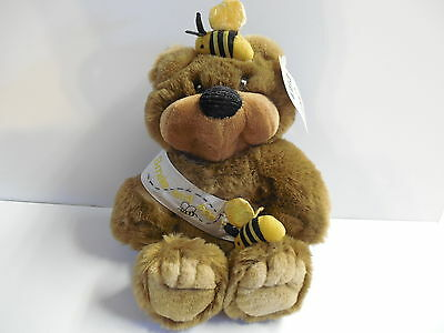 First & Main Macabee Stuffed Bear + Bees + Smile and Bee Happy ~ 12 in + Hangtag