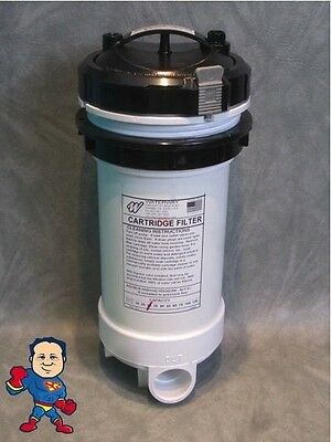 """Pressurized Top Load 25 SqFt 1 1/2"""" Filter Housing Spa Hot Tub How To Video"""
