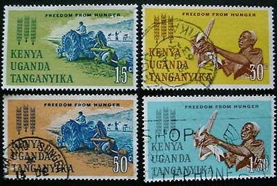 K.u.t. 1963: Freedom From Hunger: Set Of 4 Used Stamps