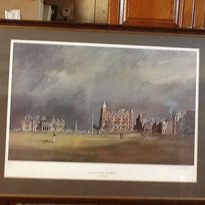 Golf The old Course at St Andrews limited edition print by Kenneth Reid
