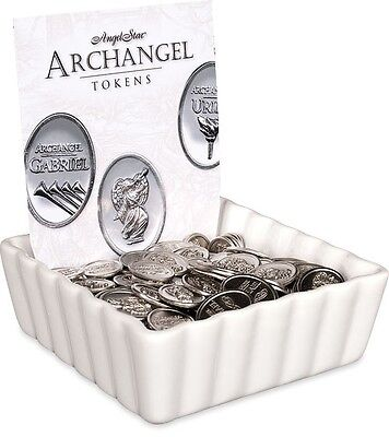 AngelStar Archangel Pewter Medal Tokens 96 pc Assortment with Dish