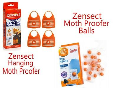 Zensect Hanging Moth Proofer Balls Lavender Fabric Killer Freshener Repellent UK