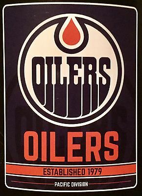 "Edmonton Oilers NHL Logo 46"" x 60"" Soft Fleece Blanket"