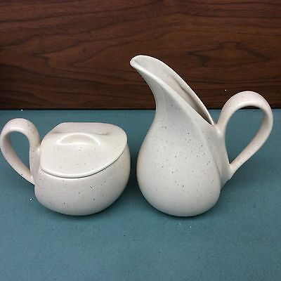 1950's Mid Century Modern Atomic Design  Covered Sugar And Creamer