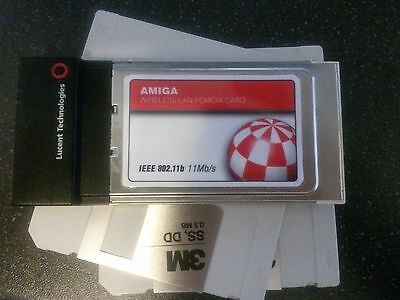 Amiga PCMCIA WiFi Network Card - With software to get your Amiga online!