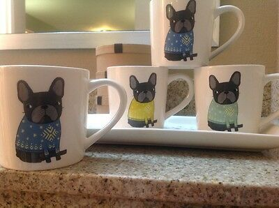 Magenta Frenchie Sweaters French Bulldog Coffee - Tea Mugs