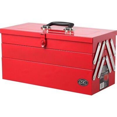 SCA Tool Box - Metal, Cantilever 5 Tray