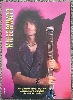 BRUCE KULICK - 1986 full page poster KISS