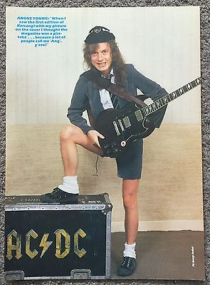 ANGUS YOUNG - 1986 full page poster AC/DC