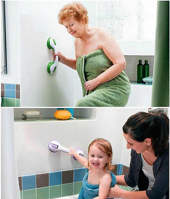 2 x BATH SUPPORT HANDLE Grip -Shower Disability MOBILITY SUPPORT Suction Handles