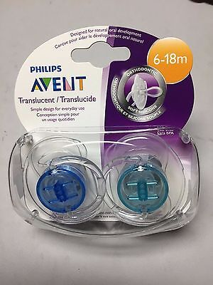 Philips AVENT BPA Free Pacifier - 6-18 Months  2-Pack - Lt Blue and Turquoise