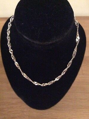 Hall marked 925 Silver Fancy Twist Anklet Chain 9.5 Inches In Length