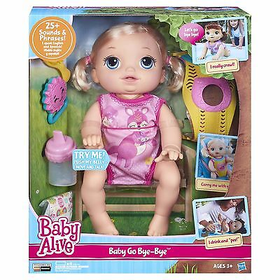 NEW Baby Alive Interactive Baby Go Bye Bye Blonde Crawling Baby Toy Gift