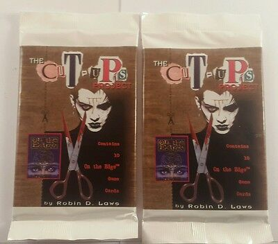 on the edge ccg rhe cut ups project - on the edge trading cards x2