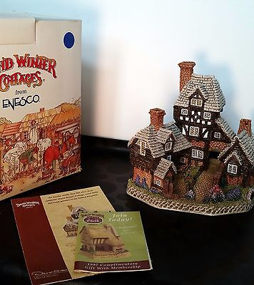 The Hop Pickers David Winter Cottages Enesco SIGNED Pubs & Taverns D1019