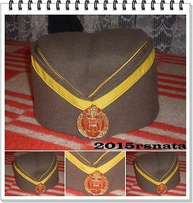 Officers cap of the Kingdom of Yugoslavia with the label.