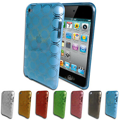 NEW Circle Pattern Gel Case for iPod Touch 4 4th GEN 4G TPU Soft Silicone Cover