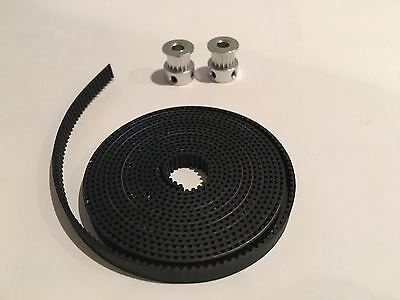 2 pcs Aluminum GT2 16T Pulley and 2M Belt for RepRap 3D printer