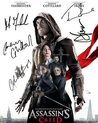 Assassin's Creed Mark Fassbender Marion Cotillard Signed Photo Autograph Reprint