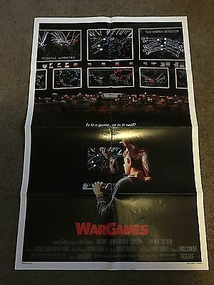 "1983 War Games Original 1 Sheet Movie Poster 27"" X 41"" - Estate"