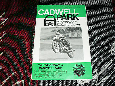 1973 Cadwell Park Motor Cycle Programme - International Road Races