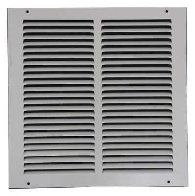 4MJN4 Return Air Grille, 10x10 In, White