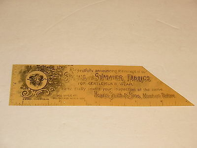 Victorian Celluloid Trade Card Book Mark 1899 Henry Smith & Sons Pittsburgh
