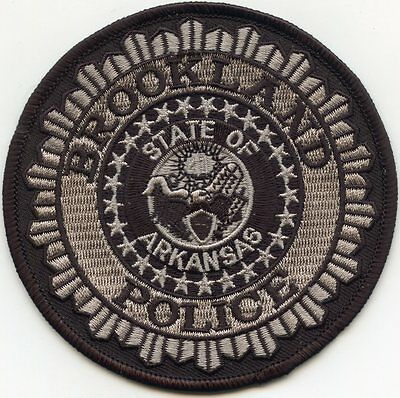 Brookland Arkansas Ar Police Patch