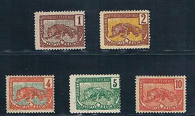 Congo - French Colonial - Set Of 5 Old Stamps Mh ( Cong 23 )