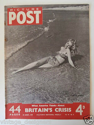 Picture Post 1949 Magazine 20 August  Vol 44 No 8, UK, Stranded Mermaid, Pin Up