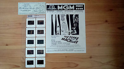 Very Rare:the Time Machine Archival Preserver Photo Slides + Rod Taylor Cheque.