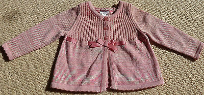 NWT Target Baby Girls Pink Glitter Cardigan Size 000 Age 0-3 Months