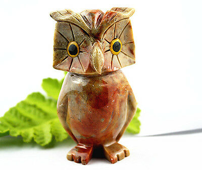 Unique Hand Carved  Peru Soap Stone Owl Ornamental furnishing articles A6506