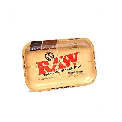 "RAW ""MINI"" TRAY Rolling Papers METAL Cigarette Rolling Tray 7""x5"""