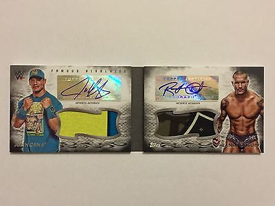 2015 Topps Undisputed WWE Famous Rivalries Cena Orton Dual Auto Book/let #d 3/5